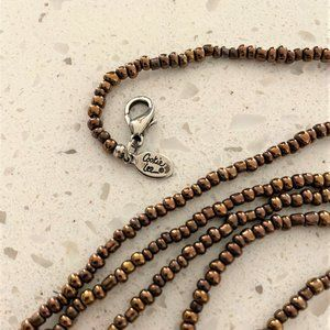 Cookie Lee Glass Bead Long Strand Necklace